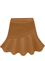 Hot Plain  A-Line Mini Skirt