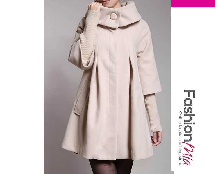 Decorative Button Plain Long Sleeve Coats - $43.95 #planetgoldilocksfashions @planetgoldilock