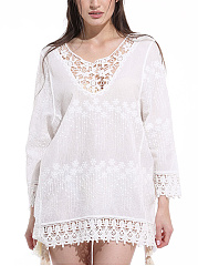 Hollow-Out-Lace-Plain-Tunic
