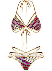 Halter-Contrast-Trim-Strappy-Printed-Bikini