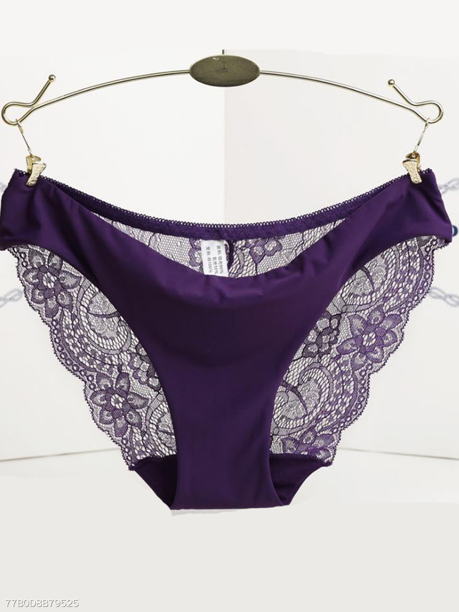 Sexy Lace-Trim Allure Low Rise  Seamfree Panties
