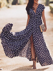 Sexy Floral Print Sleeveless Maxi Dress