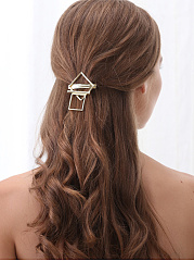 Gold Squared Hair Clip