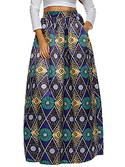 Pocket-Geometric-Printed-Elastic-Waist-Plus-Size-Skirt