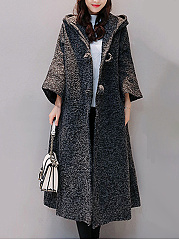 Hooded Pocket Duster Oversize Trench Coat