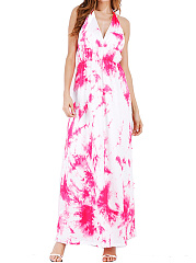 Halter  TieDye Maxi Dress