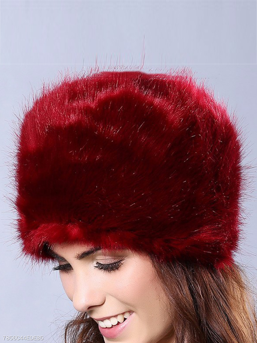 Warm Winter Fashion Faux Fur Plain Hats