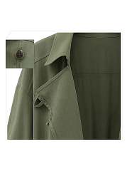 European Style Lapel  Plain Overcoats