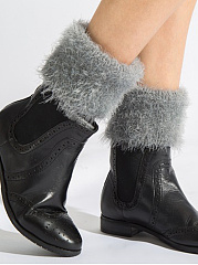 Faux Fur Knit Leg Warmers