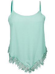 Decorative Lace  Plain Camisole