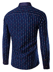 Men Vertical Striped Long Sleeve Shirts