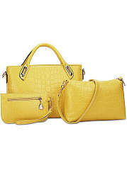 Luxury Crocodile  Three Pieces Shoulder  Bags
