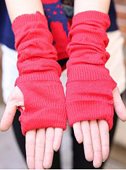 New Winter Thick Warm Short Plain Knitted Gloves