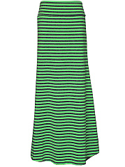 Casual Simple Striped Maxi Skirt
