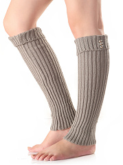 Knit Long Winter Leg Warmers