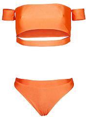 Sexy-Off-Shoulder-Cutout-Plain-Bikini
