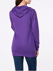 Simple Kangaroo Pocket  Plain Hoodie