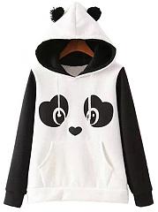Lovely-Panda-Color-Block-Kangaroo-Pocket-Hoodie