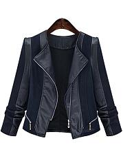 Lapel-Patchwork-Zips-Biker-Jacket