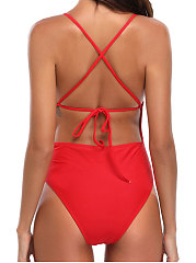Sexy Plain One Piece For Women
