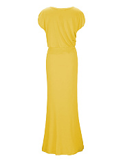 Leisure One Shoulder  Plain Maxi Dresses