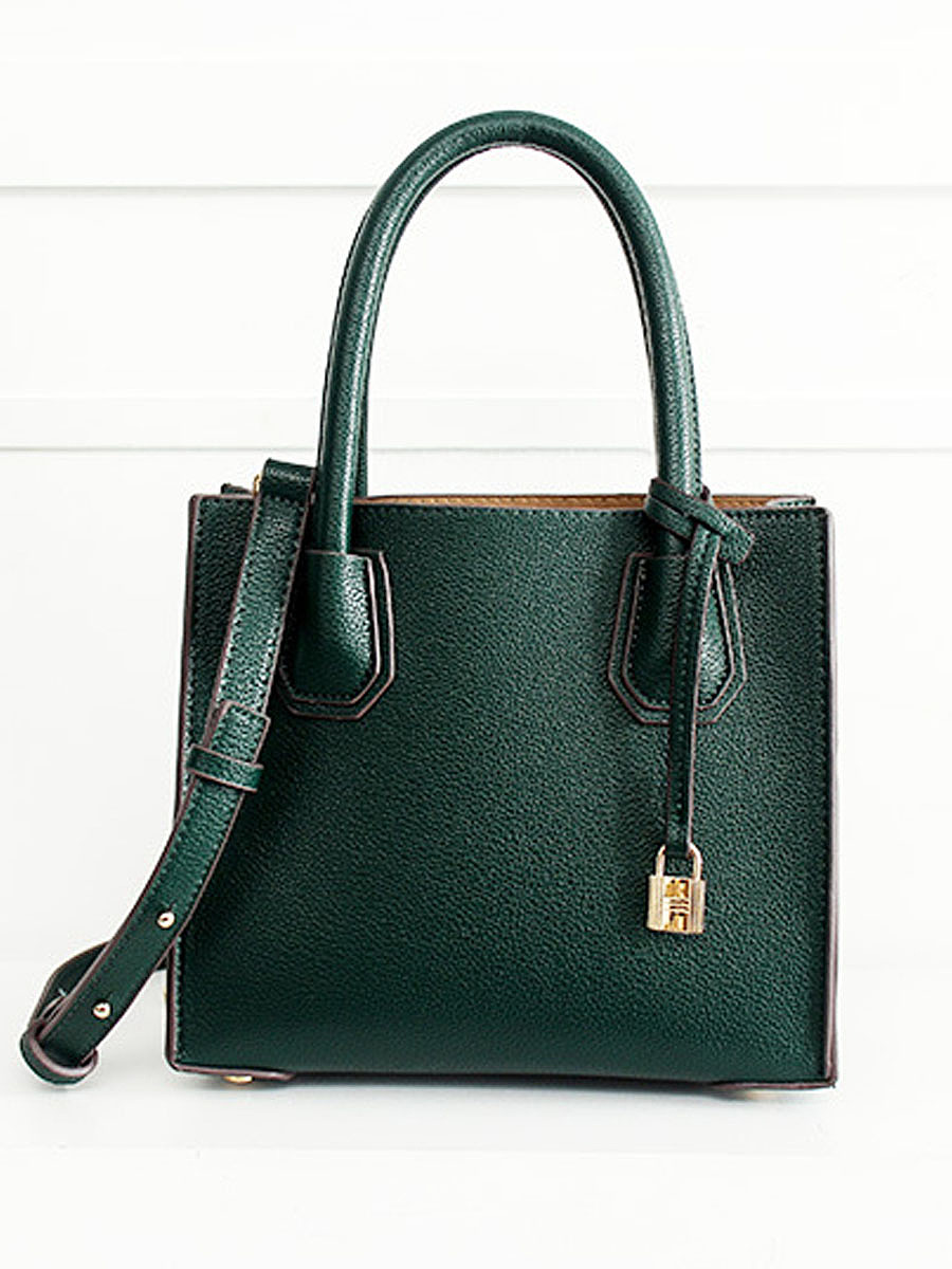 Vintage Green Pu Shoulder Bag