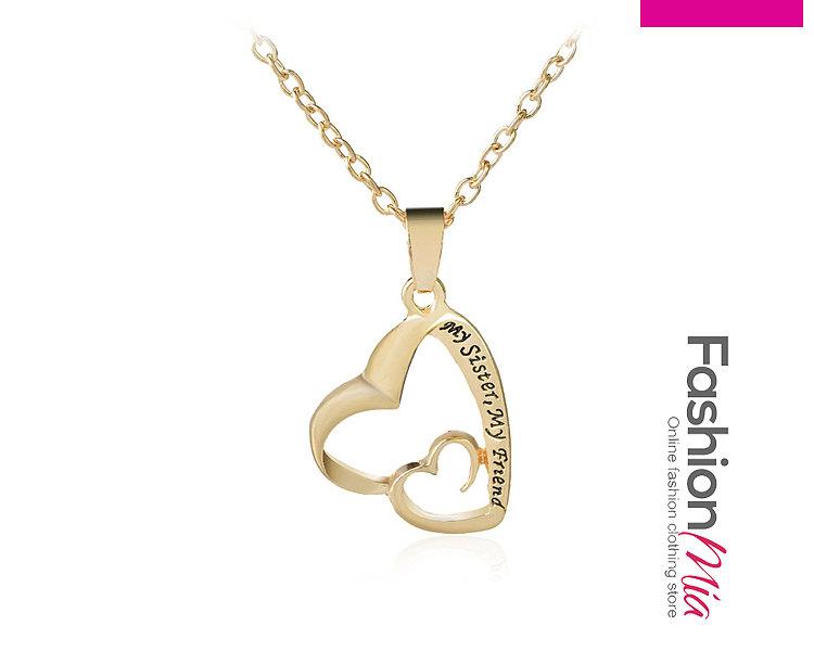 Plain Metal Heart Shape Necklaces