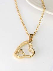 Plain Metal Heart Shape Necklaces