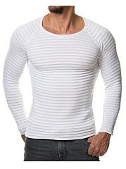 Round-Neck-Plain-Striped-Men-Sweater