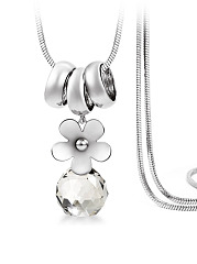 Imitated Crystal Ball Pendant Long Necklace