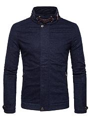 High-Neck-Pocket-Plain-Fleece-Lined-Men-Jacket