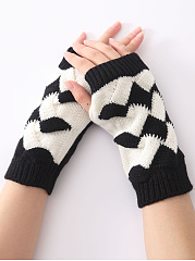 Knitted Fingerless Gloves Soft Thicken Mitten