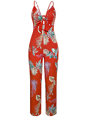 Spaghetti-Strap-Backless-Bowknot-Hollow-Out-Printed-Fantastic-Wide-Leg-Jumpsuit