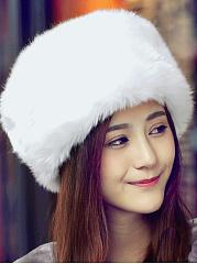Lady-Hot-Warm-Fashion-Faux-Fur-Plain-Hats-For-Winter-Women