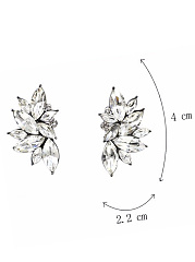 Drop Shape Imitated Crystal Earrings
