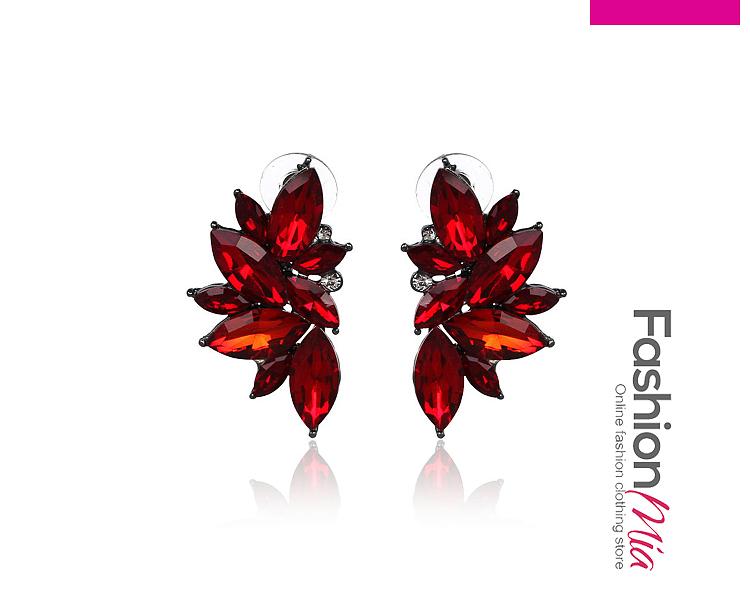 Image of Drop Shape Imitated Crystal Earrings