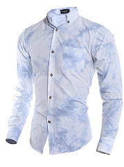 Tie/Dye Printed Button Down Collar Men Shirts
