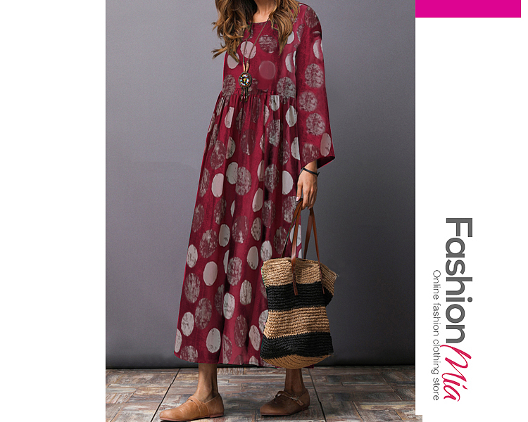 style:fashion, material:cotton/linen, collar&neckline:round neck, sleeve:long sleeve, pattern_type:printed, length:ankle-length, how_to_wash:cold gentle machine wash, supplementary_matters:all dimensions are measured manually with a deviation of 2 to 4cm., occasion:casual, season:autumn,winter, package_included:dress*1, lengthshouldersleeve lengthbust