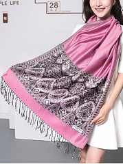 Women Cashmere Scarf Patchwork Shawls Scarves Thickening Warm Long Watkins Nap Scarf