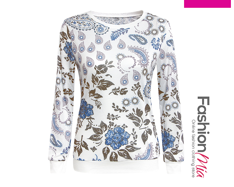 material:blend, collar&neckline:round neck, sleeve:long sleeve, pattern_type:printed, occasion:casual, season:autumn, package_included:top*1, length:62,sleeve length:58,bust:88,