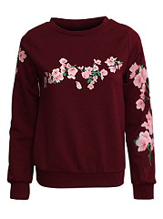 Round-Neck-Floral-Printed-Sweatshirt