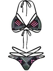 Strappy-Halter-Printed-Triangle-Bikini