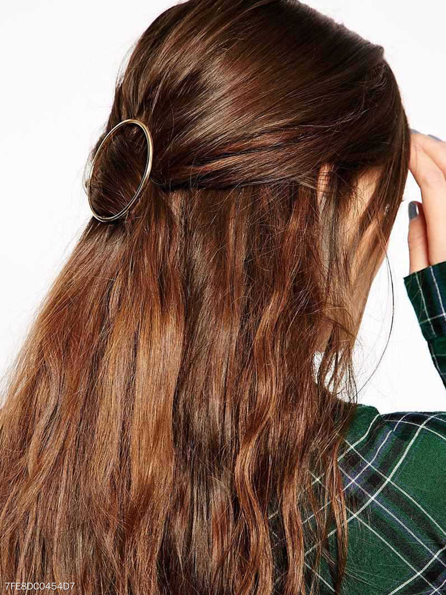 Round Metal Casual Hair Clip