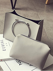 Two Pieces Round Handle Crossbody Bag