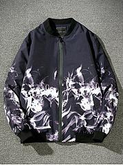 Band-Collar-Fire-Printed-Men-Bomber-Jacket