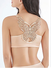 Hollow Out Butterfly Shape Backless Sexy Bra