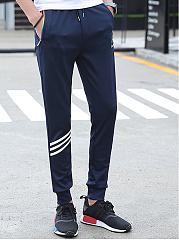 Mens-Printed-Striped-Casual-Jogger-Pants