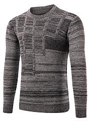 Designed-Crew-Neck-Men-Sweater