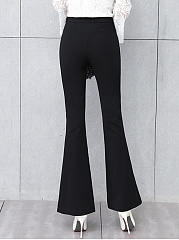 Black Casual Flared Pants