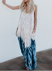 Spaghetti Strap  Gradient Maxi Dress